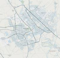 Minimalist Modern Map of Baghdad, Iraq 2