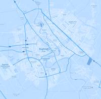 Minimalist Modern Map of Baghdad, Iraq 10