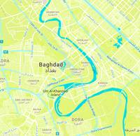 Minimalist Modern Map of Baghdad, Iraq 9