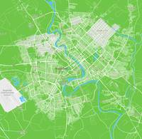 Minimalist Modern Map of Baghdad, Iraq 6