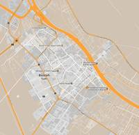 Minimalist Modern Map of Basrah, Iraq 3