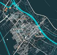 Minimalist Modern Map of Basrah, Iraq 2