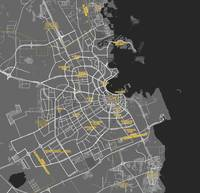 Minimalist Modern Map of Doha, Qatar 6