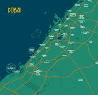 Minimalist Modern Map of Dubai, UAE 2A