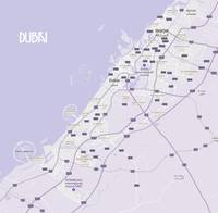 Minimalist Modern Map of Dubai, UAE 8a