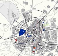 Minimalist Modern Map of Erbil, Kurdistan, Iraq 6
