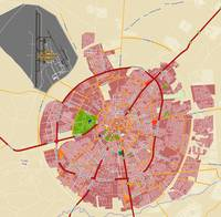 Minimalist Modern Map of Erbil, Kurdistan, Iraq 5