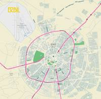 Minimalist Modern Map of Erbil, Kurdistan, Iraq 2a