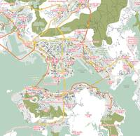 Minimalist Modern Map of Honk Kong, China 7