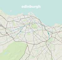 Minimalist Modern Map of IEdinburgh, Scotland 2a
