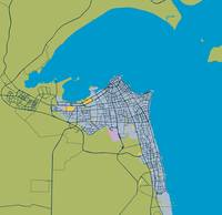 Minimalist Modern Map of kuwait City, Kuwait 5
