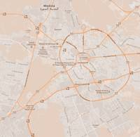 Minimalist Modern Map of Medina, Saudi Arabia 3