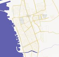 Minimalist Modern Map of Tartus, Syria 2