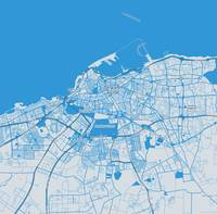 Minimalist Modern Map of Tripoli, Libya 1