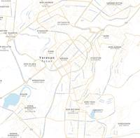Minimalist Modern Map of Yerevan, Armenia 2