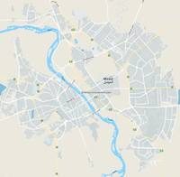 Minimalist Modern Map of Mosul, Iraq 4