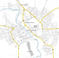 Minimalist Modern Map of Mosul, Iraq 3