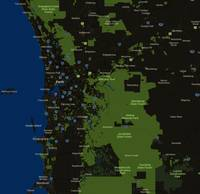 Minimalist Modern Map of Perth, Australia 7