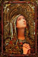 steampunk holy card  - Mary