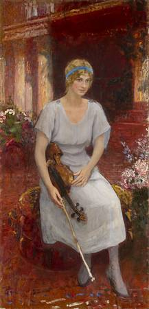 REPIN, ILYA - Portrait of the Violinist Cecilia Ha