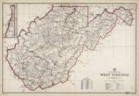 Post Route Map, West Virginia (March 1, 1950)