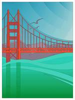 Art Deco Golden Gate Bridge San Francisco