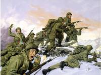 US 65th Infantry Regiment.Painting.Korean War.Bayo