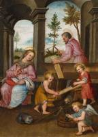 FLEMISH SCHOOL, CIRCA 1600 The Holy Family with Jo