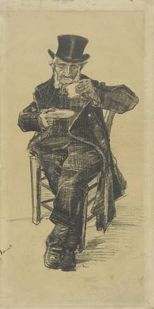 Old Man Drinking Coffee The Hague, November 1882 V