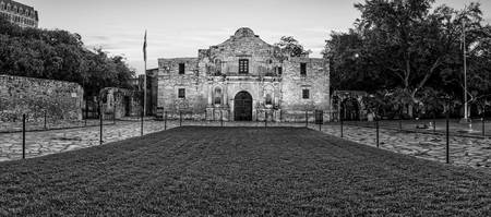 Texas Alamo in BW Pano