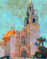 Balboa Park Sunset on the California Building