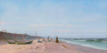The beach at Long Branch, by Francis Augustus Silv