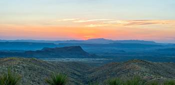 Sunset over Big Bend Landscape Pano