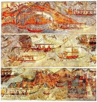 Minoan Admirals Flotilla Fresco in Three Panels