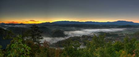 Sunrise in Pigeon Forge TN