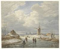 Wintergezicht, Matthijs Maris, after Barend Cornel