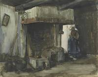 Woman by a Hearth Nuenen, August 1885 Vincent van
