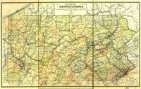 Railroad Map of Pennsylvania (1895)