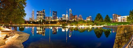 Austin Skyline Reflections Pano