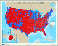 United States Presidential Election, results by co