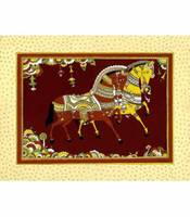 rollicking-royal-mounts-art-print-silk-framed-sale