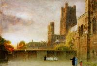 Albert Goodwin - Ely Cathedral 1908