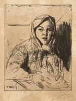 ANDERS ZORN, EMMA, GIRL FROM MORA