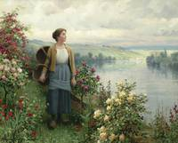 By the River by Daniel Ridgway Knight 1922