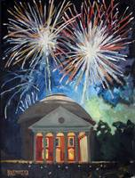 Fireworks Above UVA Rotunda