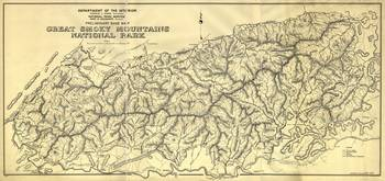 Great Smoky Mountains National Park Map (1834)