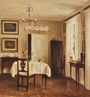 CARL HOLSOE, DINING ROOM INTERIOR.