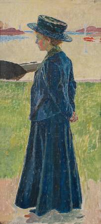 CARL WILHELMSON, GIRL IN BLUE HAT