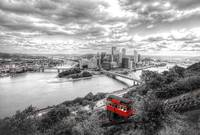 158 Black and White Cityscape of Pittsburgh, PA