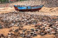 #164Abandoned boat on China Island beach-#164